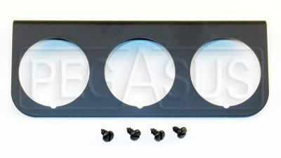 Large photo of 3-Hole Mounting Panel for Z Series Gauges, Black, Pegasus Part No. AM2238