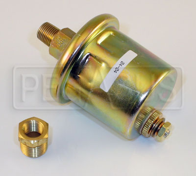 Large photo of Auto Meter Electric Oil Pressure Replacement Sender 100psi, Pegasus Part No. AM2242