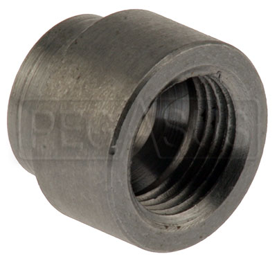 Large photo of Auto Meter Weld-in Adapter for Mechanical Temp Gauges, Steel, Pegasus Part No. AM2261