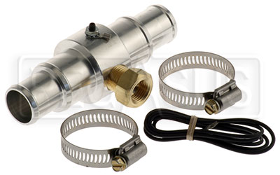 "Large photo of Inline Temp Gauge Adapter for 1 - 1.25"" Hose, 3/8 NPT Female, Pegasus Part No. AM2282"