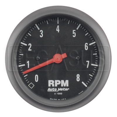 "Large photo of Auto Meter Z-Series Tachometer, 8K, 3 3/8"", Pegasus Part No. AM2699"