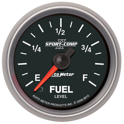 "Large photo of Sport Comp II 2 1/16"" Stepper Fuel Level Gauge, Programmable, Pegasus Part No. AM3610"
