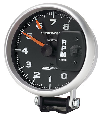 "Large photo of Sport-Comp 5"" Electric Tach, 8K RPM, Pegasus Part No. AM3980"