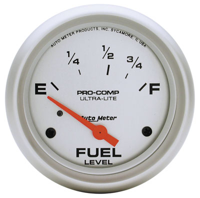 "Large photo of Ultra Lite 2 5/8"" Fuel Level Gauge, 73-10 Ohm, Pegasus Part No. AM4415"