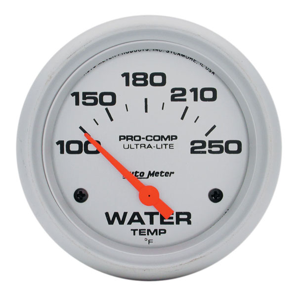 "Large photo of Ultra Lite 2 5/8"" Water Temp Gauge, 100-250 F, Electric, Pegasus Part No. AM4437"