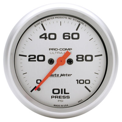 "Large photo of Ultra Lite 2 5/8"" Oil Pressure, 100 psi, Full Sweep Electric, Pegasus Part No. AM4453"