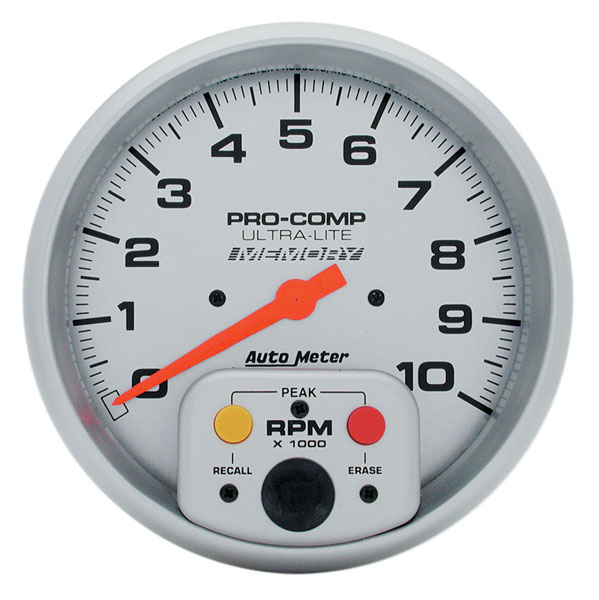 "Large photo of Ultra Lite 5"" Electric Tach, 10K In-Dash with Telltale, Pegasus Part No. AM4494"