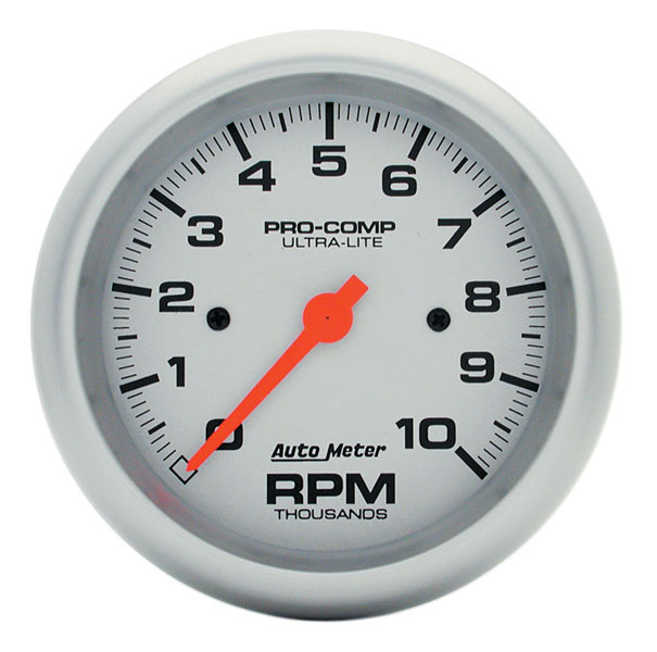 "Large photo of Ultra Lite 3 3/4"" Electric Tach, 10K In-Dash, Pegasus Part No. AM4497"