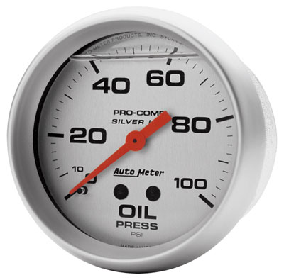 "Large photo of Ultra-Lite 2-5/8"" Liquid Filled Oil Pressure Gauge, 100 psi, Pegasus Part No. AM4621"