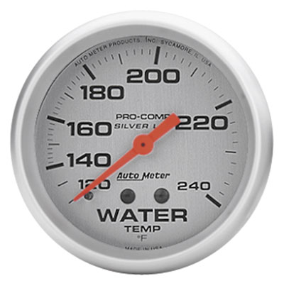 "Large photo of Ultra-Lite 2-5/8"" Liquid Filled Water Temp, 120-240F, 6 ft, Pegasus Part No. AM4632"