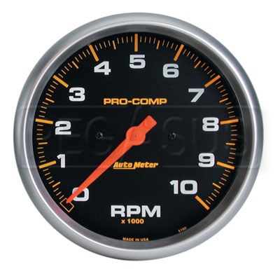 Large photo of Pro Comp 5 inch Electric Tachometer, 10K in-Dash, Pegasus Part No. AM5160