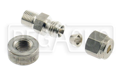 "Large photo of Auto Meter 3/16"" Probe Fitting w/ 1/8 NPT Female Weld Bung, Pegasus Part No. AM5255"