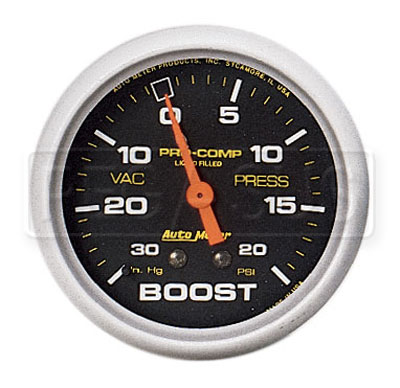 Large photo of Pro Comp 2 5/8 inch Liquid Filled Boost / Vacuum Gauge, Pegasus Part No. AM5401
