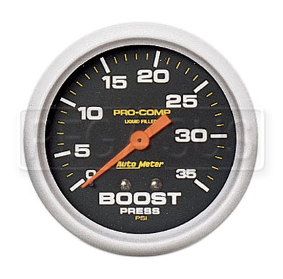 Large photo of Pro Comp 2 5/8 inch Liquid Filled Boost Gauge 0-35 psi, Pegasus Part No. AM5404