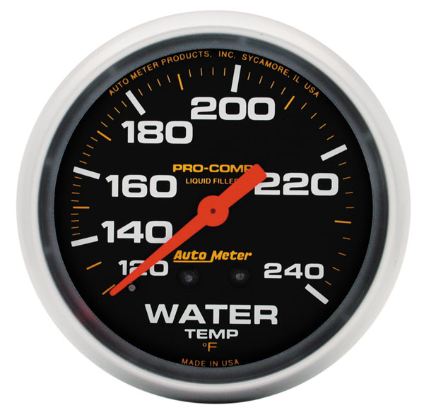 Large photo of Pro Comp 2 5/8 Liquid Filled Water Temp Gauge, 120-240 F 6ft, Pegasus Part No. AM5432