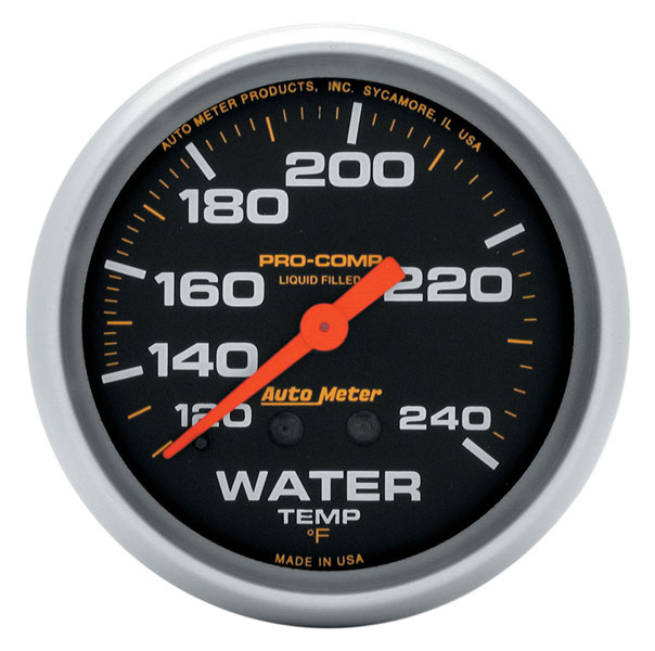 Large photo of Pro Comp 2 5/8 Liquid Filled Water Temp Gauge:120-240F 12ft, Pegasus Part No. AM5433