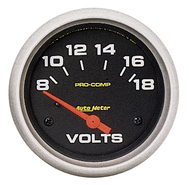 Large photo of Pro Comp 2 5/8 inch  Voltmeter (not liquid filled), Pegasus Part No. AM5492