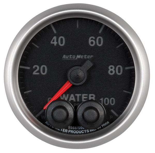 "Large photo of Auto Meter Elite 0-100 PSI Water Pressure Gauge, 2-1/16"", Pegasus Part No. AM5668"