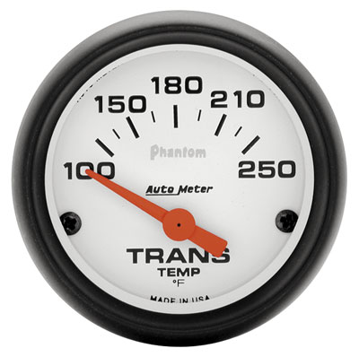 "Large photo of Auto Meter 2"" Phantom Trans Temp Gauge, 100-250F Electric, Pegasus Part No. AM5757"