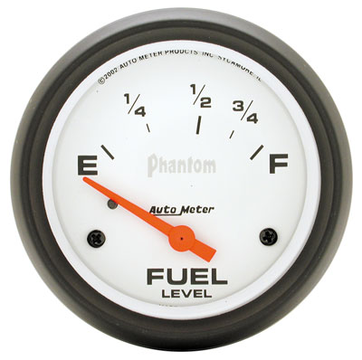 "Large photo of Auto Meter 2-5/8"" Phantom Fuel Level Gauge, 73-10 Ohm, Pegasus Part No. AM5815"