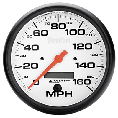 "Large photo of Auto Meter 5"" Phantom Speedometer, 160 mph, Programmable, Pegasus Part No. AM5889"