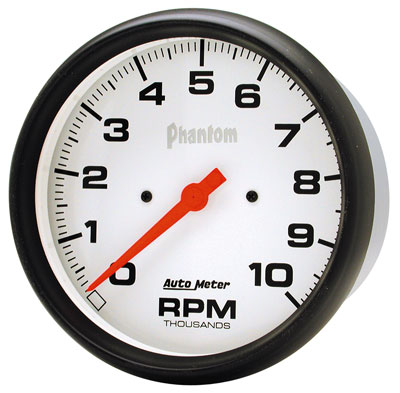 "Large photo of Auto Meter 5"" Phantom Electric In-Dash Tachometer, 10K RPM, Pegasus Part No. AM5898"