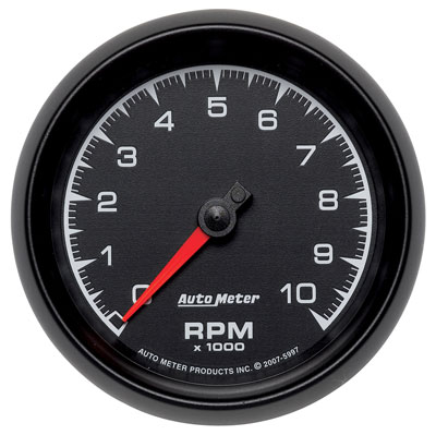 "Large photo of Auto Meter ES Series 3-3/8"" In-Dash Tach, 10k RPM, Pegasus Part No. AM5997"