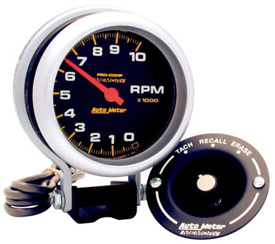 Large photo of Pro Comp 3.75 inch Electric Tach, 10k RPM with Telltale, Pegasus Part No. AM6601