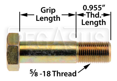 Large photo of AN10 Airframe Bolt, 5/8-18 Thread, Pegasus Part No. AN10-Size