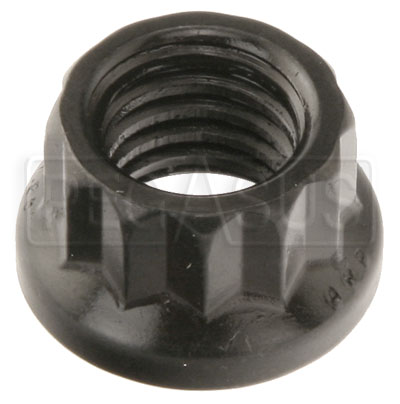 Large photo of ARP 12-Point Nut, 8mm x 1.25, Black, sold individually, Pegasus Part No. ARP300-8310