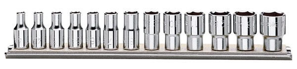 "Large photo of Beta 900/SB13, 13-Pc Socket Set, 1/4"" Drive, 6-Point Metric, Pegasus Part No. BT-009000150"