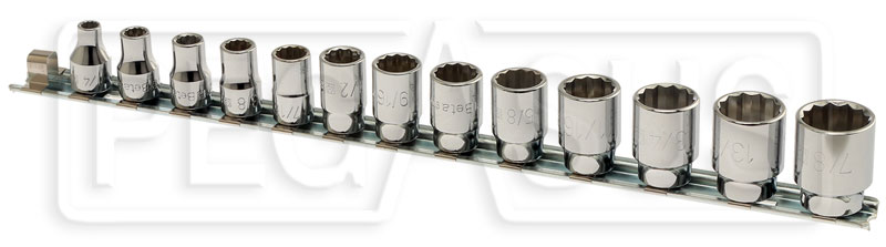 "Large photo of Beta 910AS/SB13 13-Pc Socket Set, 3/8"" Drive, 12-Point SAE, Pegasus Part No. BT-009100215"
