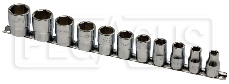 "Large photo of Beta 920A-AS/SB11 11-Pc Socket Set, 1/2"" Drive, 6-Point SAE, Pegasus Part No. BT-009200295"