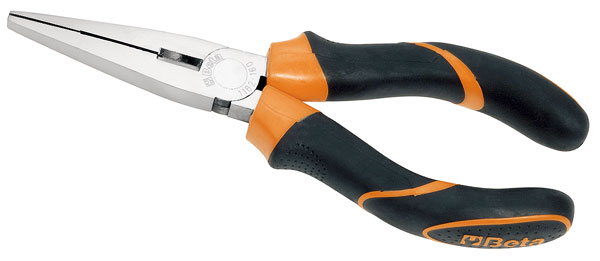 Large photo of 1162BM Extra Long Nose Pliers, Wide Serrated Jaws, 200mm, Pegasus Part No. BT-011620040