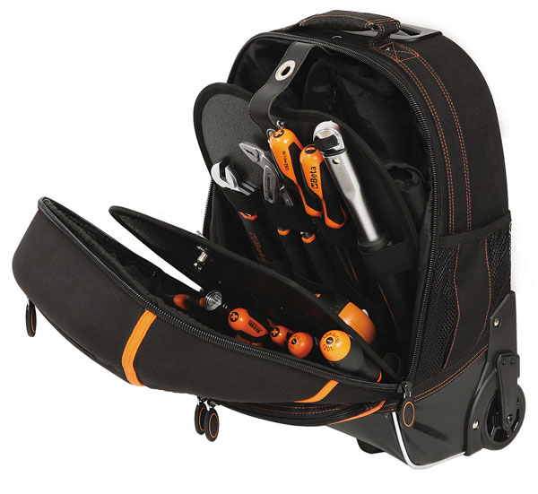 Large photo of Beta Tools C6T Tool Backpack with Handle and Casters, Pegasus Part No. BT-021060010