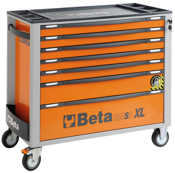 Large photo of C24SA-XL/7 Roller Tool Cab, Wide Drawer, Orange: Ships Truck, Pegasus Part No. BT-024002271