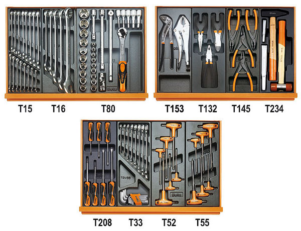 Large photo of Beta Tools 5904VG/2T 99 Piece Auto Repair Tool Kit, Metric, Pegasus Part No. BT-059040191