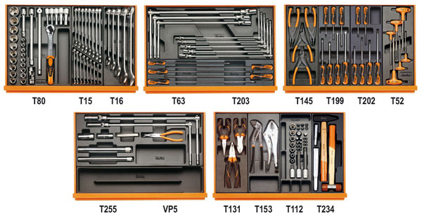 Large photo of Beta Tools 5904VG/4T 135 Piece Auto Repair Tool Kit, Metric, Pegasus Part No. BT-059040193