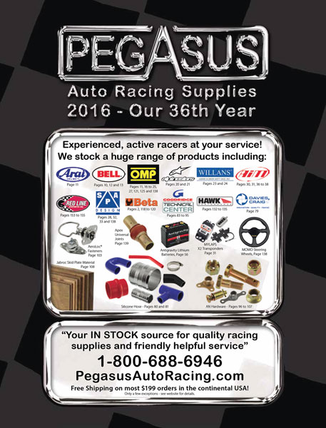 Large photo of 2016 Pegasus Catalog - Included with order, Pegasus Part No. CATALOG