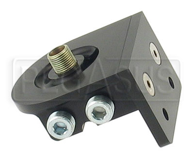 Large photo of Remote Filter Head, Dual Horizontal Ports, Billet Aluminum, Pegasus Part No. CM 22-625