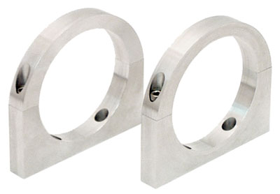 Large photo of 2 and 3 Quart Billet Aluminum Accusump Mounting Clamps, pair, Pegasus Part No. CM 24-210