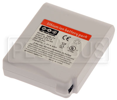 Large photo of Replacement 7.4v Battery for Waist Pack Cooling System, Pegasus Part No. CS425