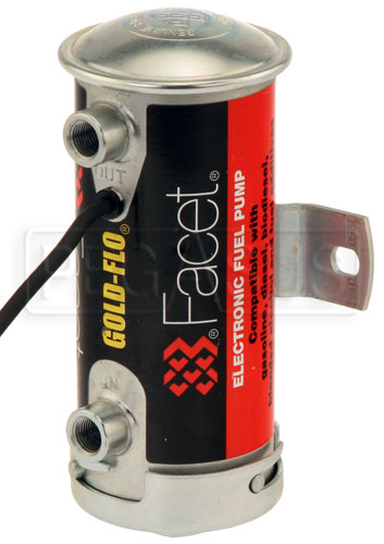 Large photo of Facet Cylindrical Style 24 Volt Fuel Pump, 4 to 5 max psi, Pegasus Part No. FAC-40053