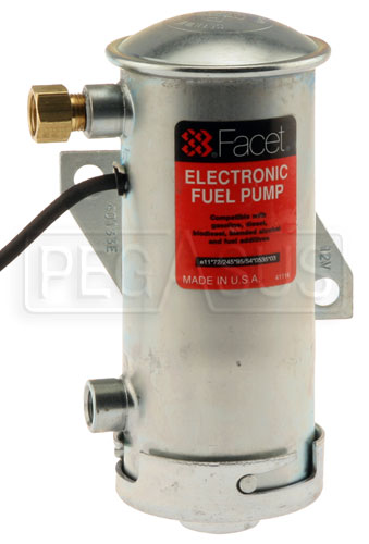 Large photo of Facet Cylindrical Style 12 Volt Non-Filter Pump, 4-5 psi, Pegasus Part No. FAC-40133