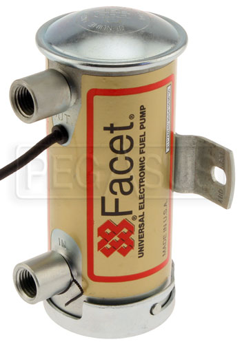 Large photo of Facet Cylindrical Style 24 Volt Fuel Pump, 6 to 8 max psi, Pegasus Part No. FAC-480563