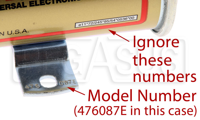 Large photo of Facet Fuel Pump Part Numbers, Pegasus Part No. TECH00023