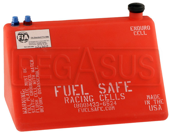 Large photo of Fuel Safe 4 Gallon Formula Car Enduro Cell, Left Filler, Pegasus Part No. FS CB400