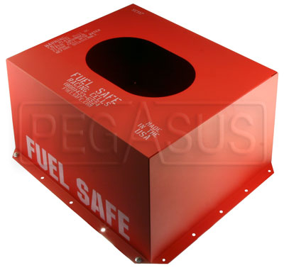 Large photo of Fuel Safe Steel Container for 17 Gallon Cell, Bottom Flange, Pegasus Part No. FS SC117BF