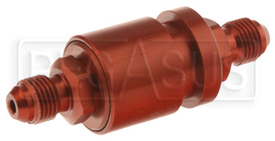 Large photo of Fuel Cell Pressure Relieving Vent Valve, In-Line, 6AN Male, Pegasus Part No. FS TPV6