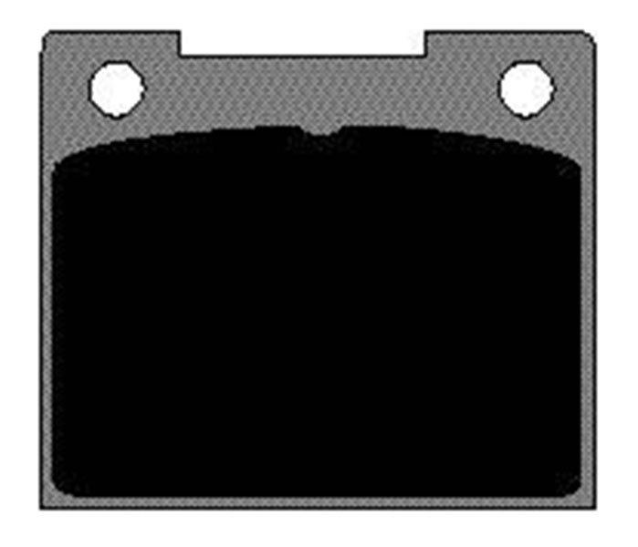 Large photo of Ferodo Brake Pad: FF, Formula Mazda, Girling 14LF (D044), Pegasus Part No. GD533-Compound
